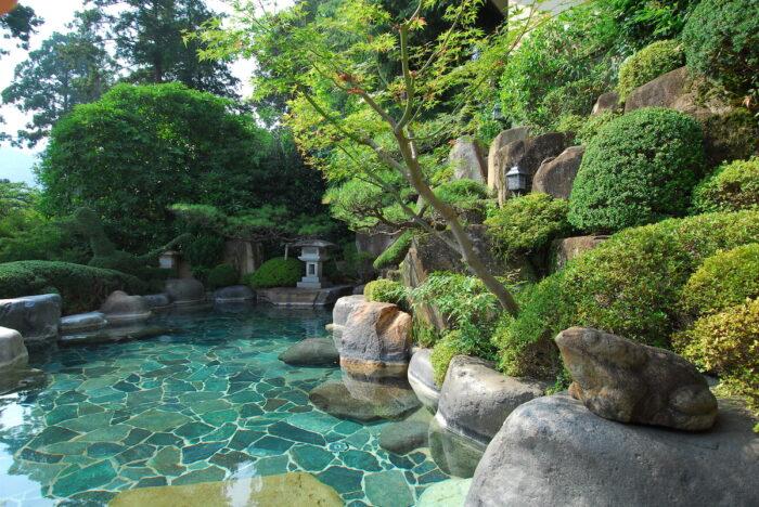 Japan Gifu Prefecture Onsen Place photo via Depositphotos