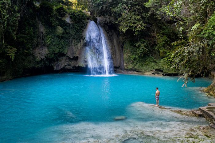 Kawasan Falls in Cebu photo via Depositphotos