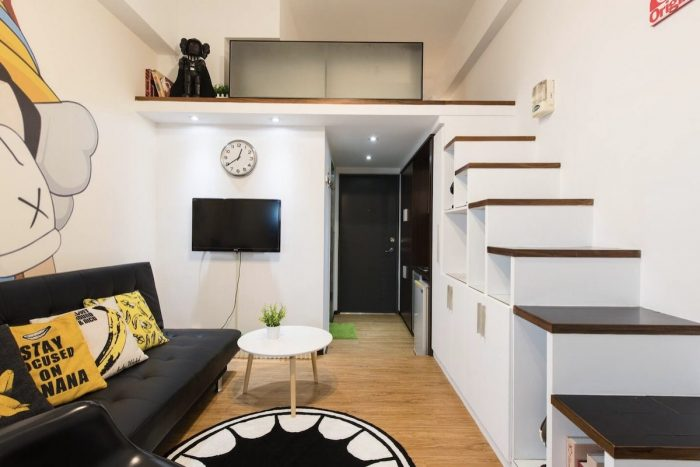 Loft AirBnb Apartment for rent in Taipei