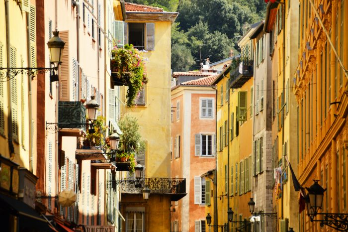 Old town architecture of Nice on French Riviera photo via Depositphotos