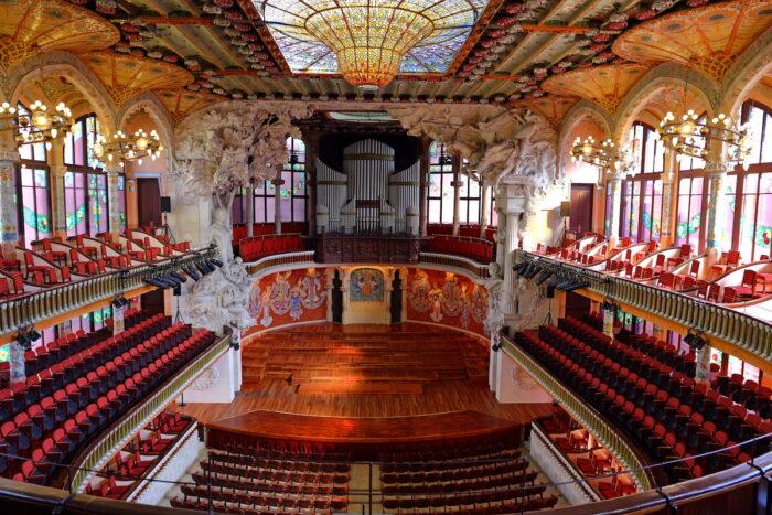 Palau de la Musica Catalana photo via Depositphotos.com