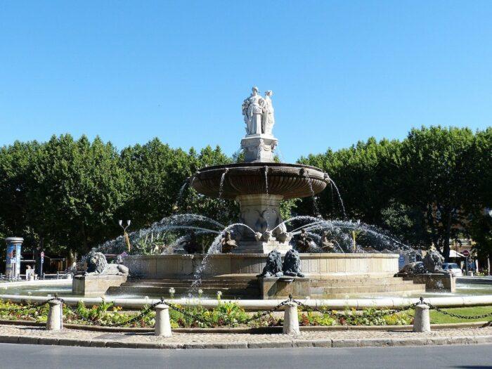 Rotunda Fountain in Aix en Provence, France