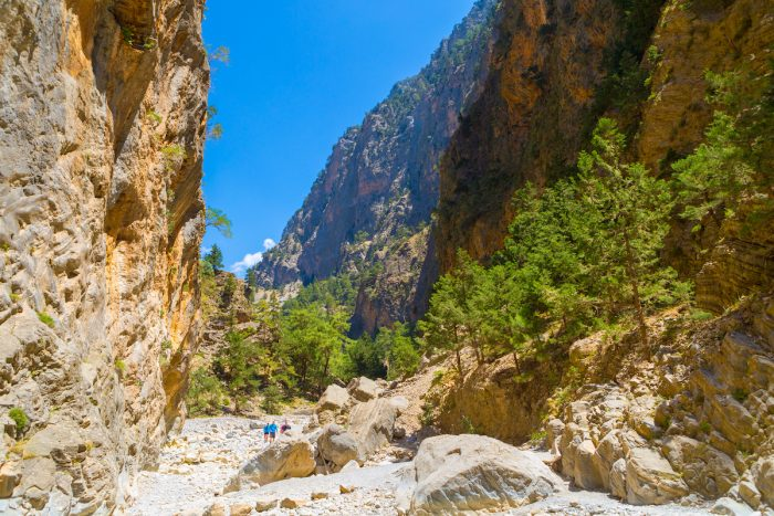 Passage of famous Samaria Gorge, Crete, Greece photo via Deposit Photos