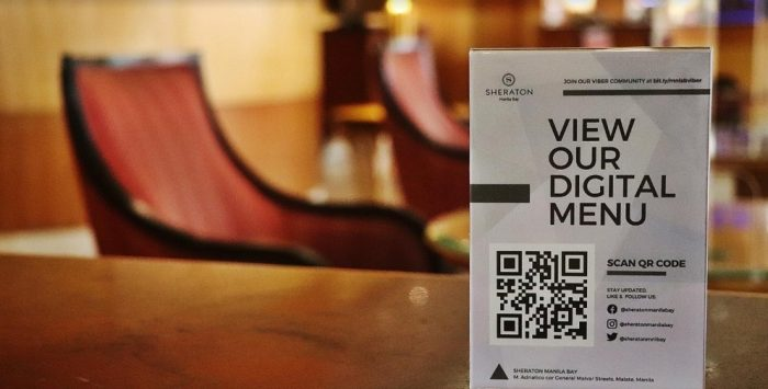 Sheraton Lobby Lounge QR Code Digital Menu