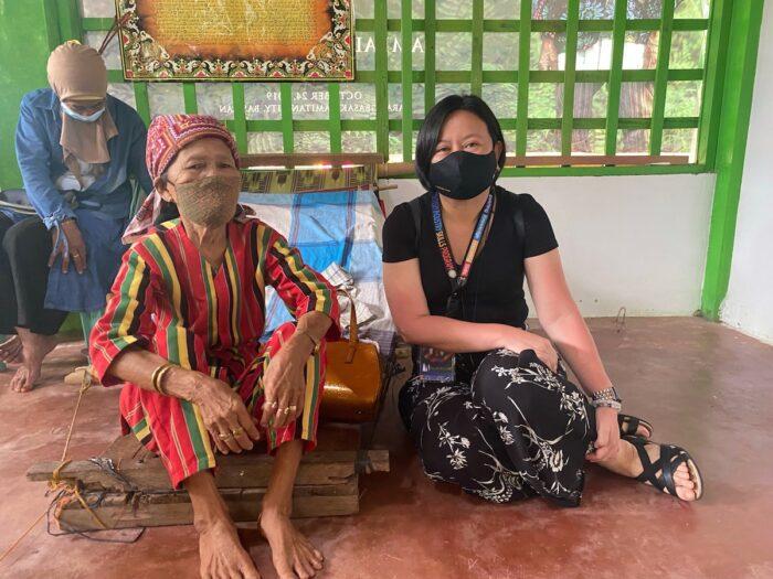 The author with Apuh Ambalang Ausalin