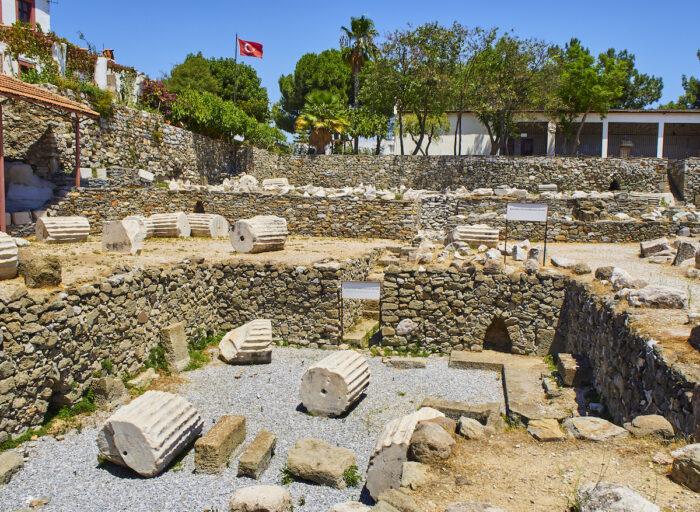 The ruins of the Mausoleum of Halicarnassus via Depositphotos