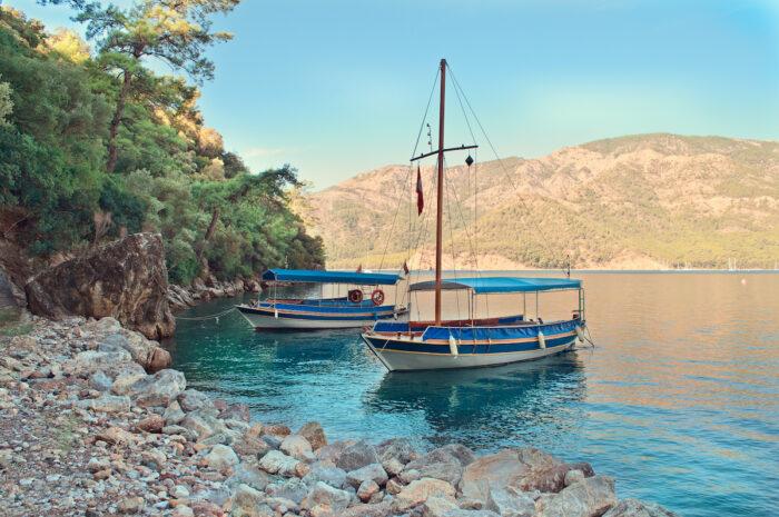 Tourist Boats in Gocek via Depositphotos