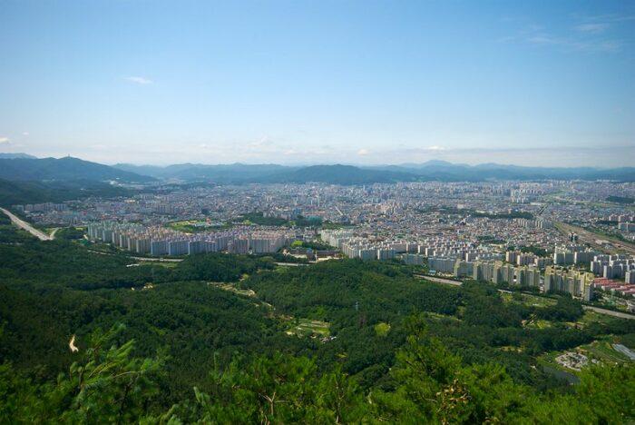 View from Gyejoksan photo by Yoo Chung via Flickr CC