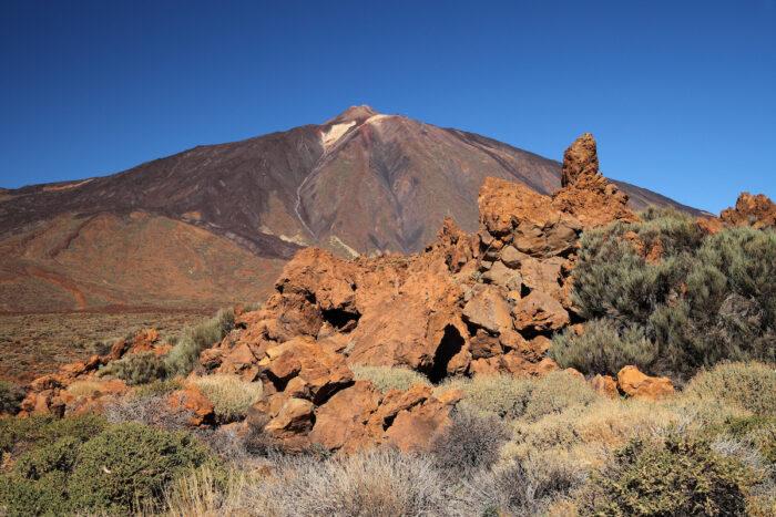 View of volcano Mount Teide, in Teide National Park via Depositphotos