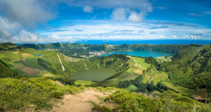 View to the Caldeira of Sete Cidades, Sao Miguel island, Azores, Portugal photo via DepositPhotoes.com
