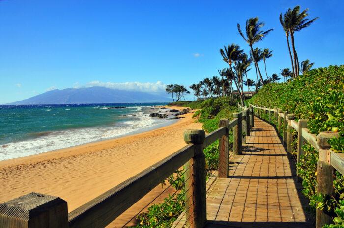 Wailea Beach Pathway, Maui Hawaii photo via Depositphotos