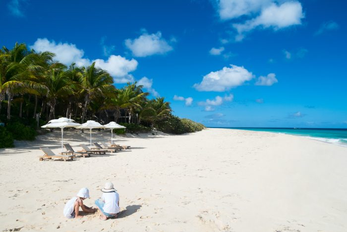 White sand beach in Anguilla photo via Depositphotos