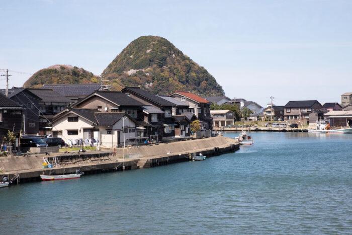 A view of the Nekozaki Peninsula from the village.
