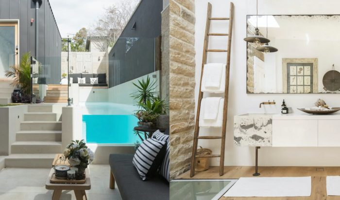 Airbnb Sydney sandstone home with vintage and modern decor
