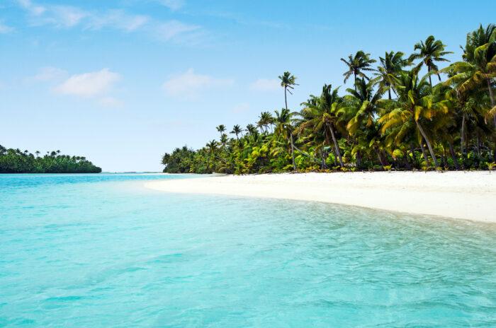 Aitutaki Lagoon Cook Islands photo via Depositphotos
