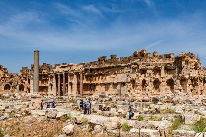 Baalbek Roman temple ruins in Baalbek, Lebanon via DepositPhotos