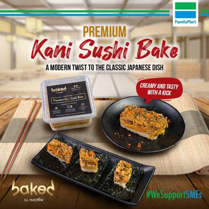 Baked by Machew's Premium Kani Sushi Bake now available at FamilyMart