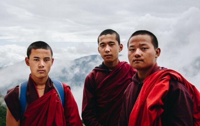 Buddhist Monks in Bhutan by Adli Wahid via Unsplash