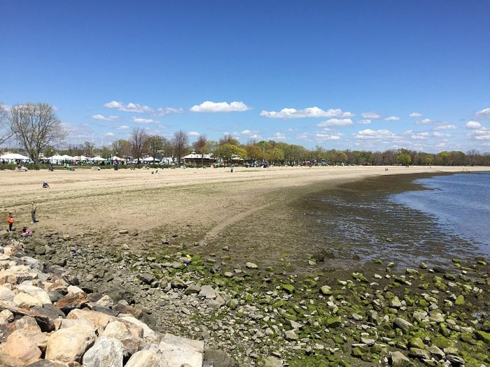 Calf Pasture Beach, municipal beach and park in Norwalk, CT by Jllm06 via Wikipedia CC