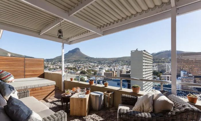 Cape Town Airbnb with Covered patio facing Lions Head