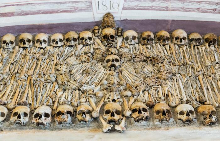 Chapel of Bones in Evora photo via Depositphotos