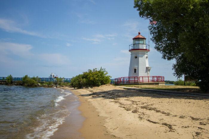 Cheboygan Michigan Beach photo via Depositphotos
