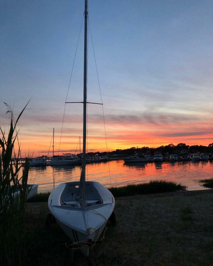Clinton Town Beach photo via Clinton Sailing Club FB Page