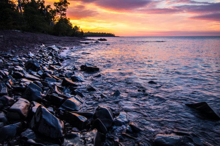Copper Harbor Michigan Sunset photo via Depositphotos