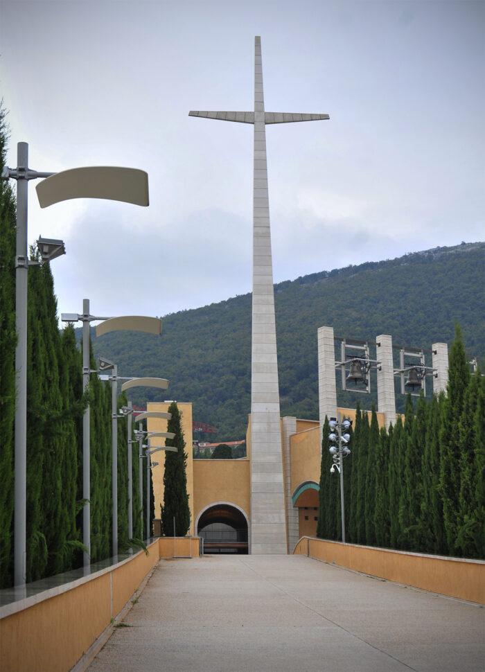 Entrance to the sanctuary.