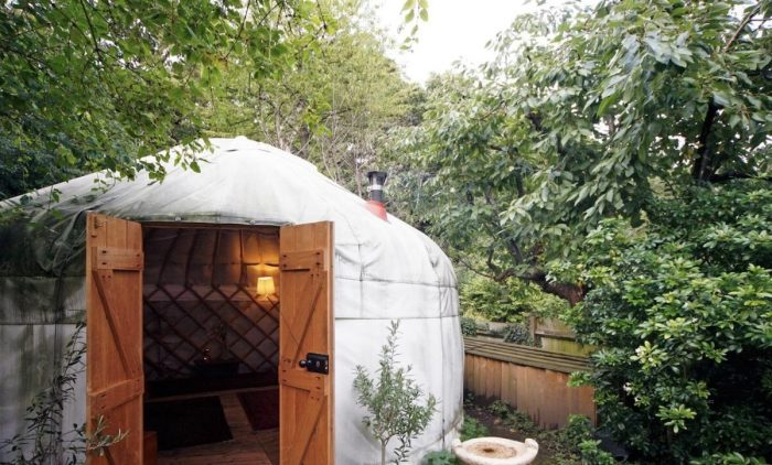 Experience staying in a yurt while touring London