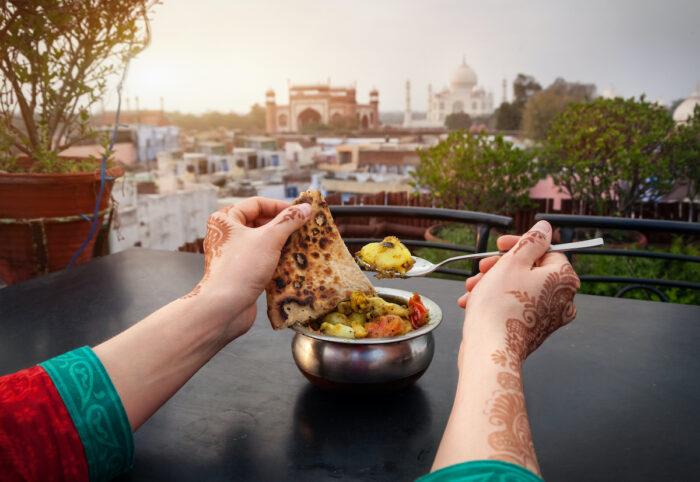 Food Trip in Agra photo via Depositphotos