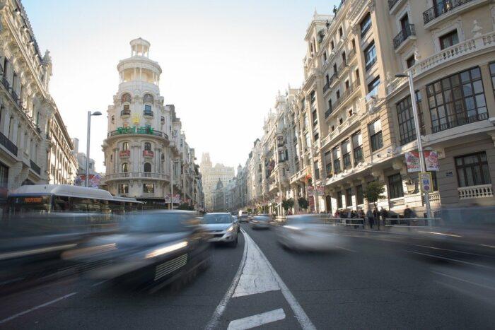 Gran Via Street in Madrid
