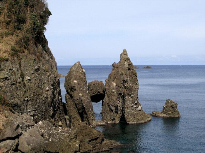 Hasahari Rock in Takeno Japan