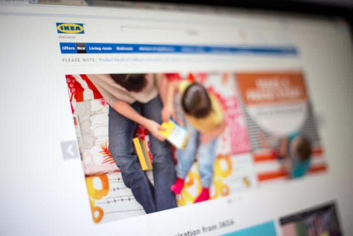 IKEA website and online catalog photo via DepositPhotos