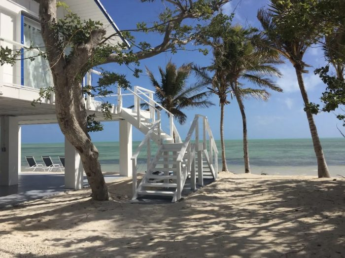 Islamorada Florida three story home with a private beach, pool and amazing Ocean views
