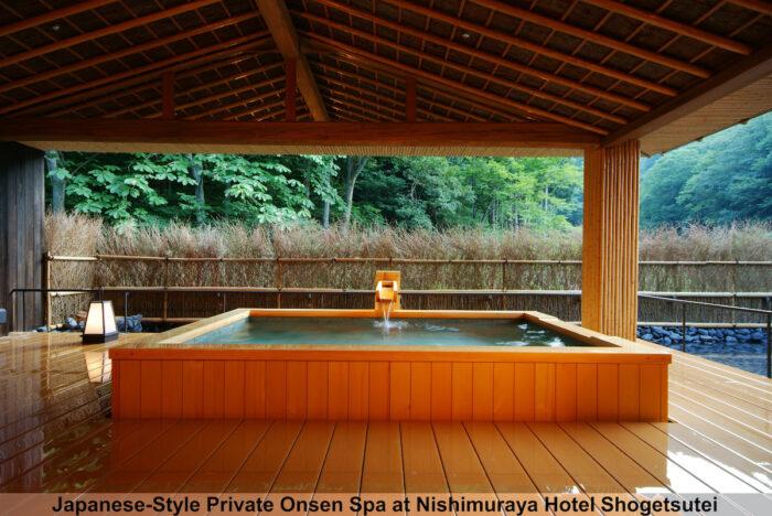 Japanese Style Private Onsen Spa at Nishimuraya Hotel Shogetsutei