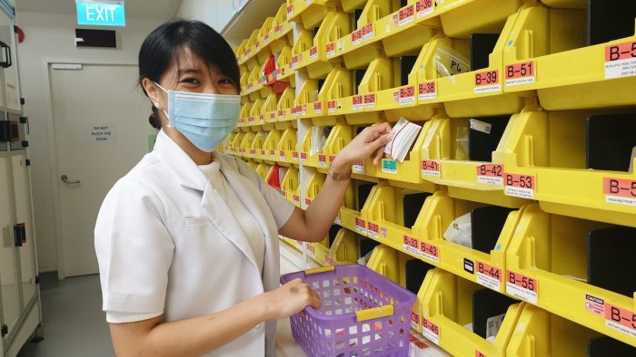 KC Oyco, who works as a pharmacy technician at the Changi General Hospital remains fully dedicated towards providing the prescribed medicines needed by patients, knowing that these bring not only better health but can also save lives.