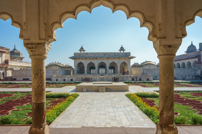 Khas Mahal and Anguri Bagh Grape Garden, Agra Fort photo via Depositphotos