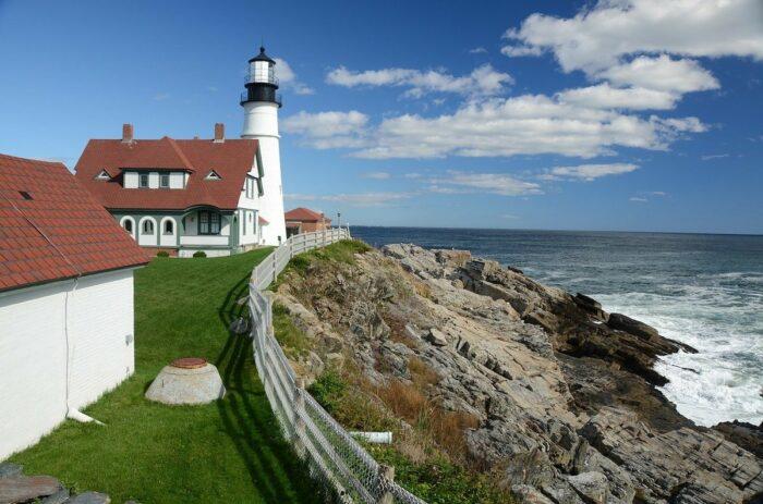 Lighthouse in Portland Maine USA
