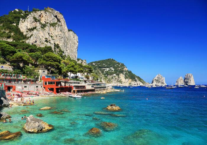 Marina Piccola on Capri Island photo via Depositphotos