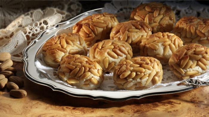 Marzipan with pine nuts via DepositPhotos