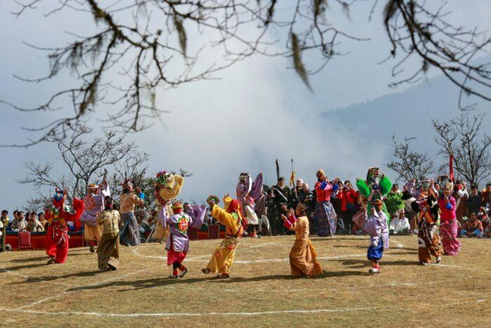 Masked dace at Dochula in Thimphu by Pema Gyamtsho via Unsplash