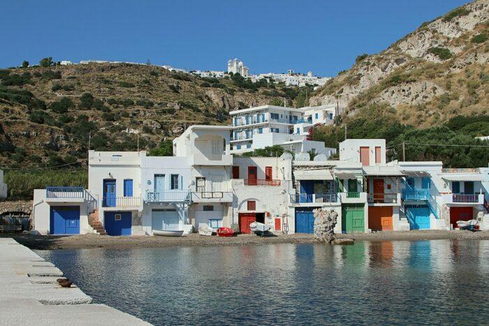 Old Klima Port Cottages by Zde via Wikipedia CC