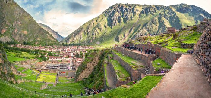 Ollantaytambo, old Inca fortress in the Sacred Valley photo via Depositphotos