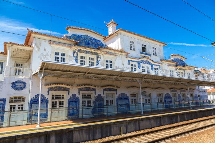 Railway station in Aveiro photo via Depositphotos