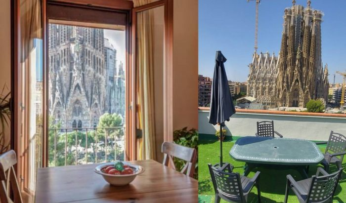 Serviced apartments for Rent in Barcelona with a view of La Sagrada Familia