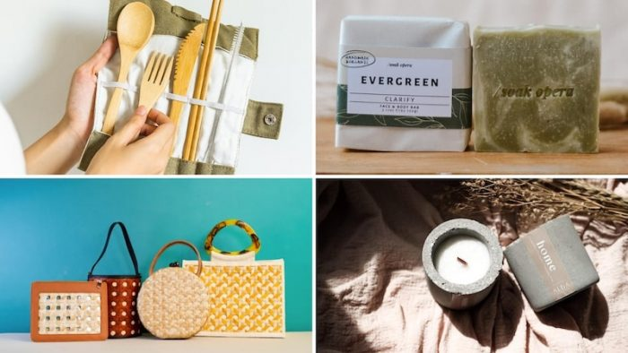 Shopping items from locally-made eco-friendly goods, wellness products, accessories, and more