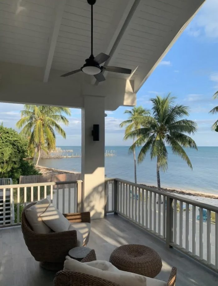 Spacious private beach front home rental