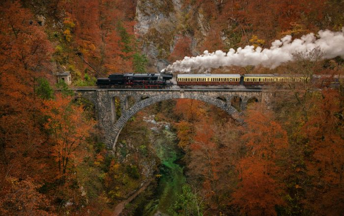 Steam Train in Slovenia photo via Depositphotos