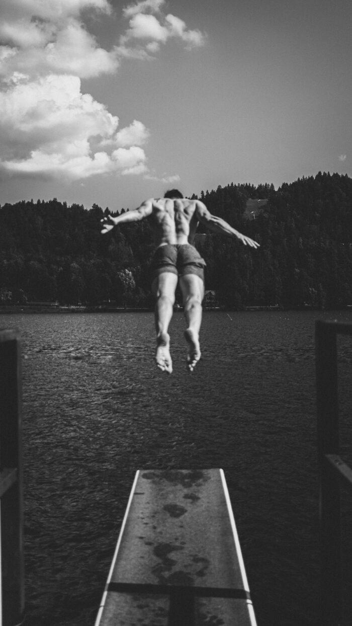 Swim in Lake Bled photo by Bruno Bucar via Unsplash